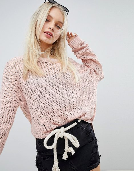 Hollister oversized knit in blush