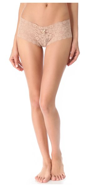 Honeydew Intimates Camellia boy short panties in warm taupe