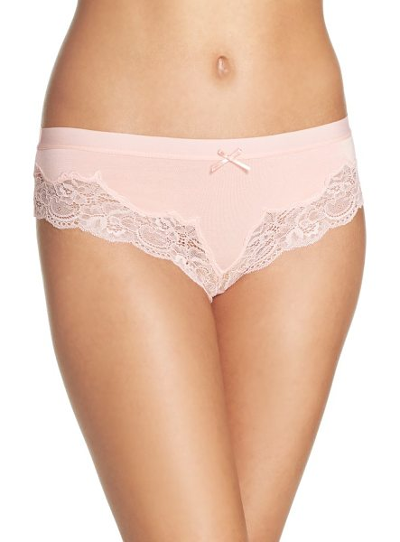Honeydew Intimates lace thong in peach tea