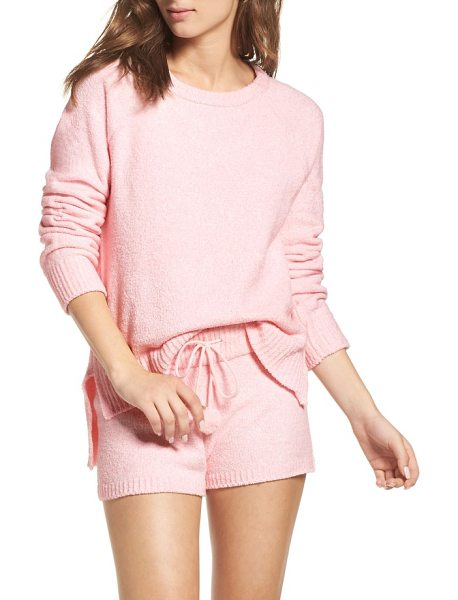 Honeydew Intimates marshmallow sweatshirt in feather pink - This cuddle-ready pullover is made of plush fleece for...