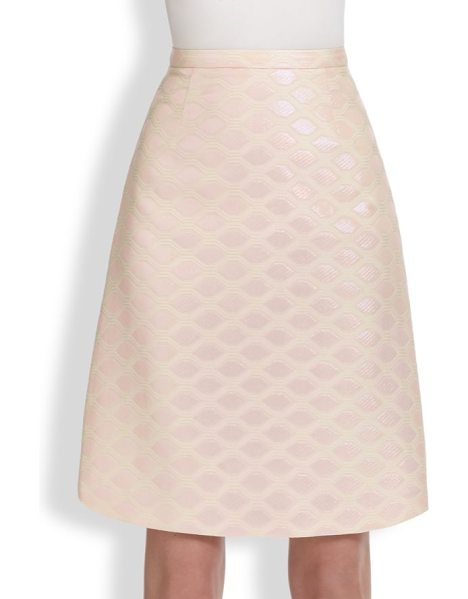 HONOR Geometric brocade skirt in petalpink - A flattering, feminine A-line design, tailored from...