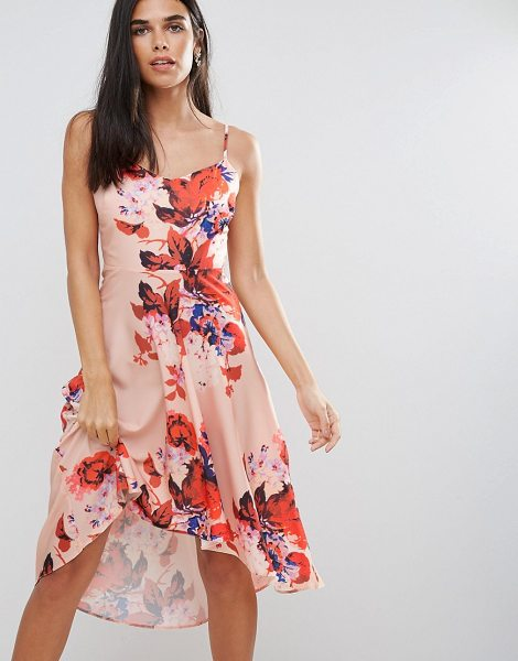 "Hope and Ivy Hope & Ivy Floral Hi Lo Dress in pink - """"Dress by Hope and Ivy, Printed woven fabric, V-neck,..."