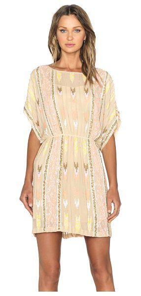 Hoss Intropia Embellished dress in beige