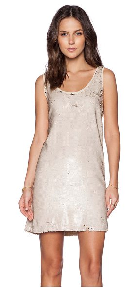 Hoss Intropia Sequin dress in metallic gold - Self & Lining: 100% poly. Hand wash cold. Fully lined....