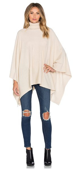 Hoss Intropia Turtleneck poncho in tan