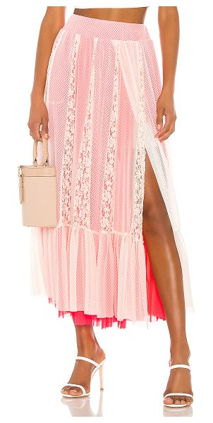 Hot as Hell far out skirt in au naturale combo