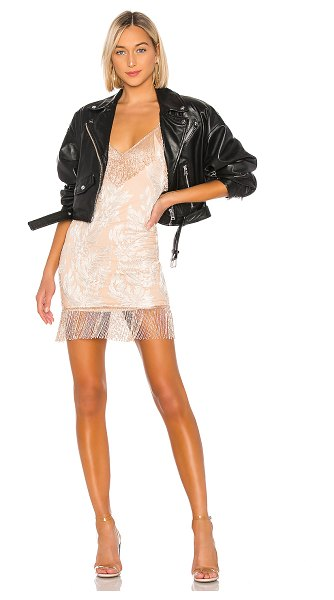 h:ours janisa embellished mini dress in rose gold