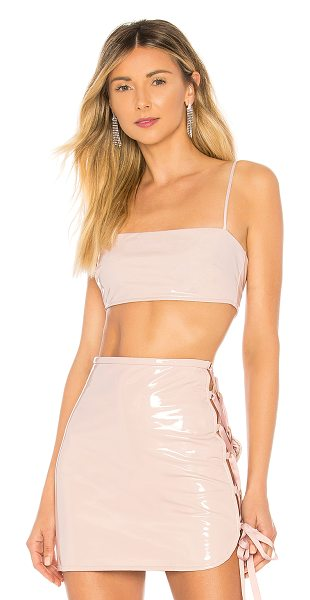 h:ours Kirah Crop Top in blush - Self: 100% polyurethaneLining: 97% poly 3% spandex. Dry...