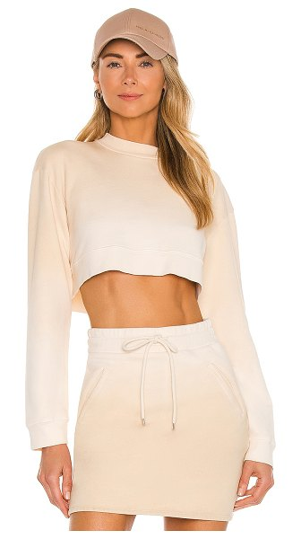 h:ours malika cropped sweatshirt in neutral ombre