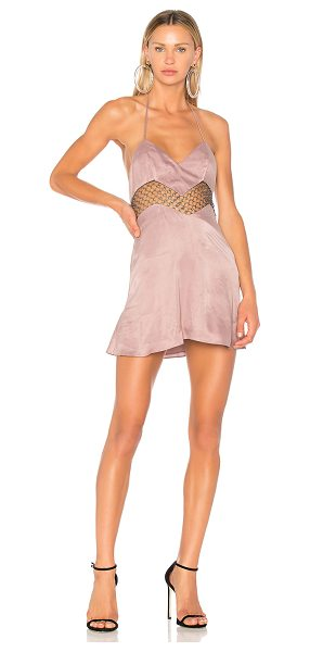 h:ours Marion Dress in pink - Self: 60% cupro 40% rayonLining: 100% polyTrim: 100%...