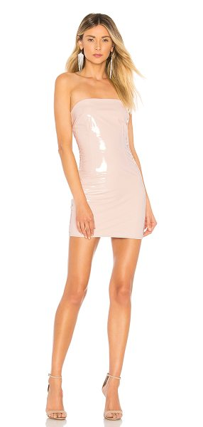 h:ours mirabelle dress in nude gloss