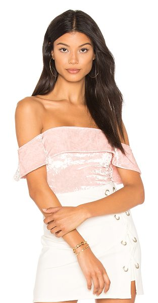 h:ours Off Shoulder Cheeky Bodysuit in pink - Self & Lining: 95% poly 5% elastane. Dry clean only....