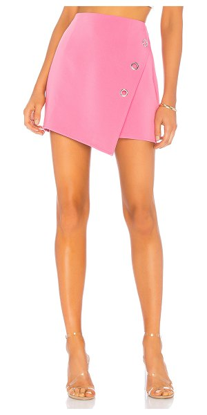 """h:ours Penelope Skirt in pink - """"Self: 95% poly 5% spandexLining: 100% poly. Dry clean..."""