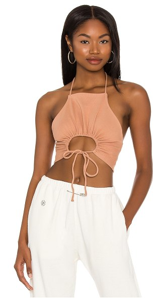 h:ours shauna crop top in nude