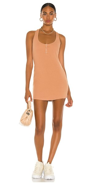 h:ours shauna mini dress in nude