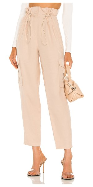 h:ours shaye paperbag cargo pant in champagne