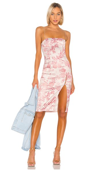 h:ours sybil midi dress in pink floral