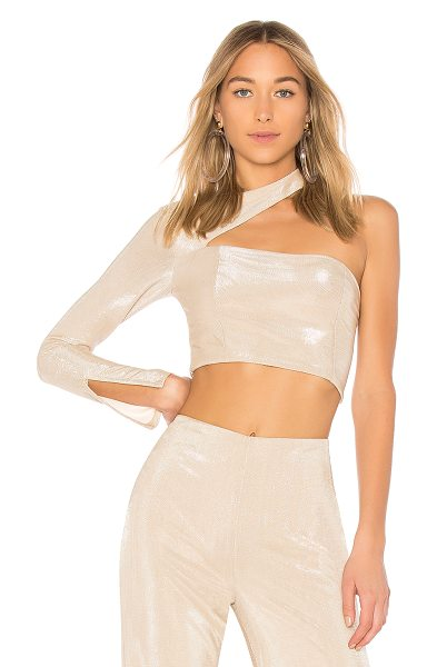 h:ours x REVOLVE Mercury Top in metallic neutral - Self: 100% polyLining: 95% poly 5% elastane. Dry clean...