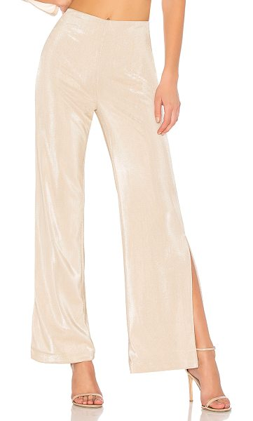"h:ours x REVOLVE Sonora Pant in metallic neutral - ""Self: 100% polyLining: 95% poly 5% elastane. Dry clean..."
