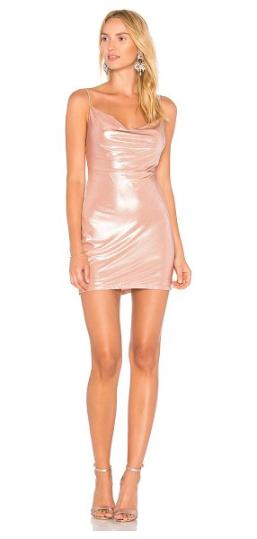 H:OURS x REVOLVE Willa Slip Dress - Poly blend. Dry clean only. Fully lined. Draped...