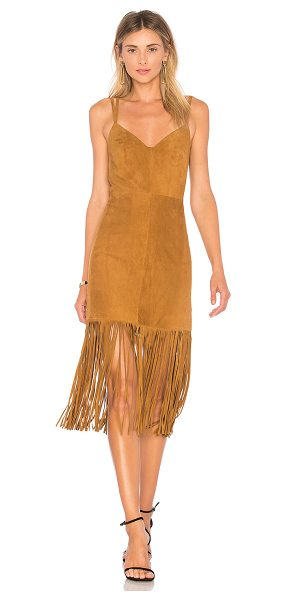 HOUSE OF HARLOW 1960 x REVOLVE Cara Dress - 100% leather. Dry clean only. Fully lined. Fringe hem....
