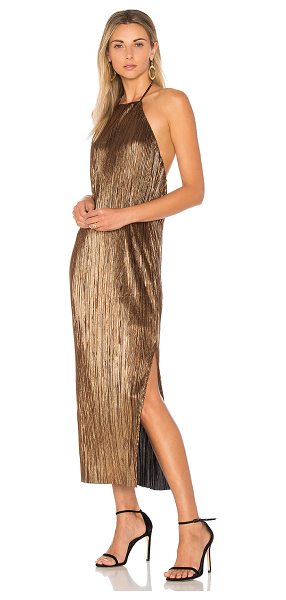 78f8bd8169f4 House of Harlow 1960 x REVOLVE Frederick Dress in metallic gold