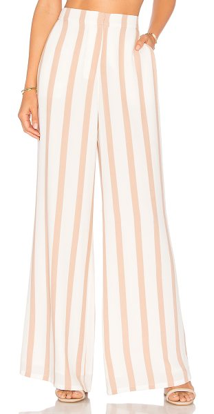 "House of Harlow 1960 X REVOLVE Mona Pant in beige - ""Self: 55% rayon 45% viscoseLining: 100% poly. Hand wash..."