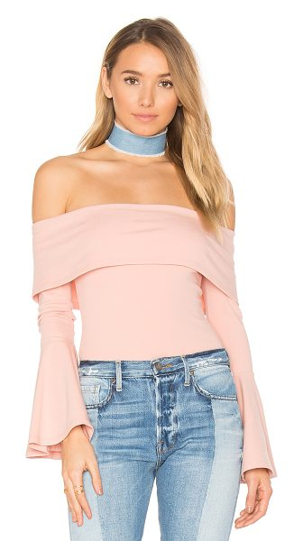 House of Harlow 1960 1960 x REVOLVE Abby Bodysuit in canyon rose - 95% cotton 5% spandex. Dry clean only. Elastic neckline....