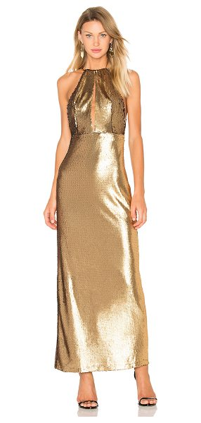 House of Harlow 1960 x REVOLVE Ali Sequin Maxi in metallic gold
