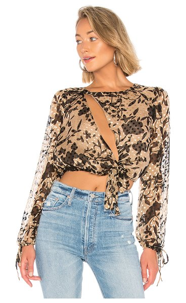 House of Harlow 1960 x REVOLVE Ali Top in tan - Self: 70% rayon 30% silkLining: 100% poly. Dry clean...