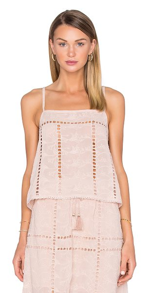 House of Harlow 1960 x REVOLVE Avery Crop in taupe - 100% poly. Hand wash cold. Mini ladder cut-out trim....