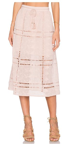 House of Harlow 1960 x REVOLVE Callie Midi Skirt in taupe - 100% poly. Hand wash cold. Partially lined. Waist tie...