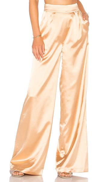 "House of Harlow 1960 x REVOLVE Charlie Pant in gold - ""Self: 97% poly 3% spandexLining: 100% poly. Dry clean..."
