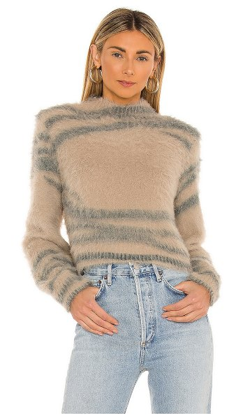 House of Harlow 1960 x revolve decklan sweater in wheat & charcoal