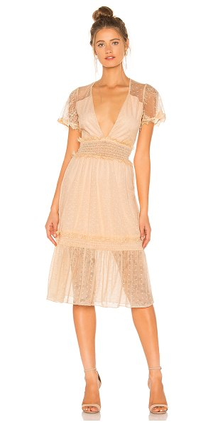 House of Harlow 1960 x revolve dimas dress in nude