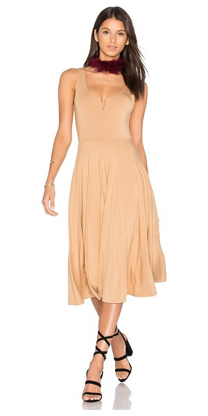 House of Harlow 1960 x REVOLVE Ella Dress in tan - 92% rayon 8% spandex. Hand wash cold. Fully lined....