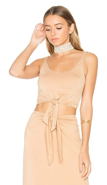 House of Harlow 1960 x REVOLVE Evie Top in nude - 92% rayon 8% elastane. Hand wash cold. Waist tie detail....
