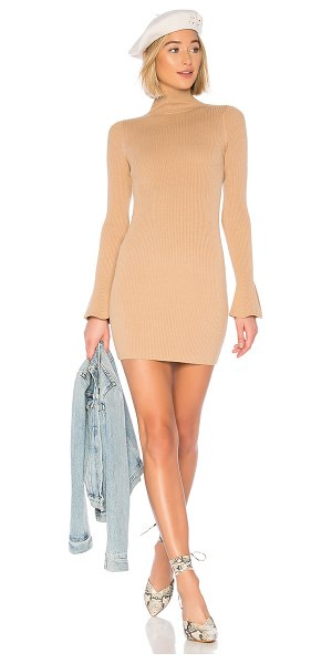 House of Harlow 1960 x revolve flared sleeve sweater dress in camel