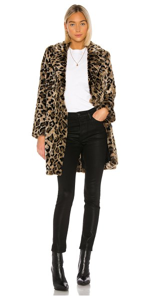 House of Harlow 1960 x revolve genn faux fur coat in natural leopard