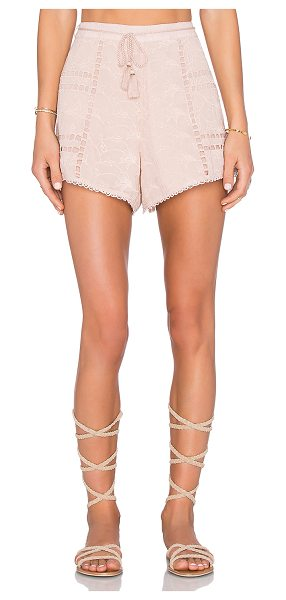 """HOUSE OF HARLOW 1960 x REVOLVE Grace Short - """"100% poly. Hand wash cold. Waist tie with tassel..."""