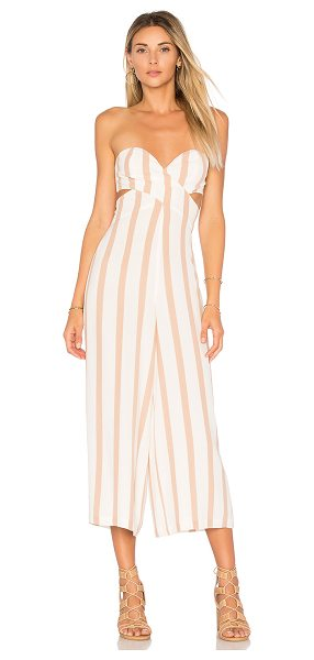 "House of Harlow 1960 X REVOLVE Joelle Jumpsuit in beige - ""Self: 55% rayon 45% viscoseLining: 100% poly. Hand wash..."