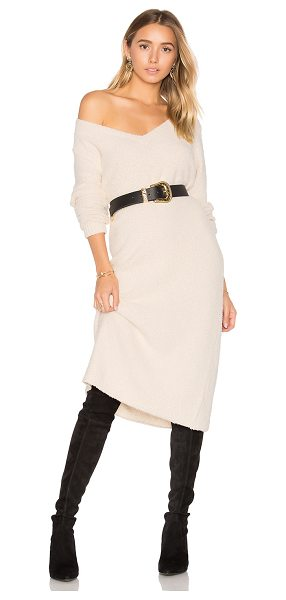 House of Harlow 1960 x REVOLVE Juli Midi in cream - 56% cotton 38% poly 6% wool. Hand wash cold. Unlined....