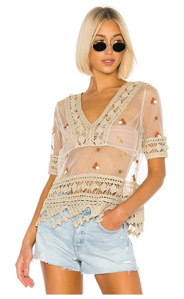 House of Harlow 1960 x revolve kyra top in oatmeal