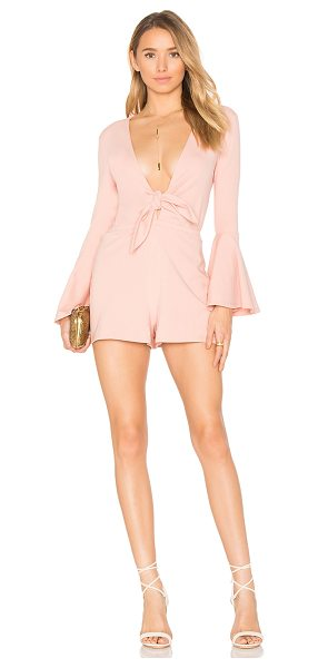 """HOUSE OF HARLOW 1960 x REVOLVE Lennox Romper - """"95% cotton 5% spandex. Dry clean only. Front tie..."""