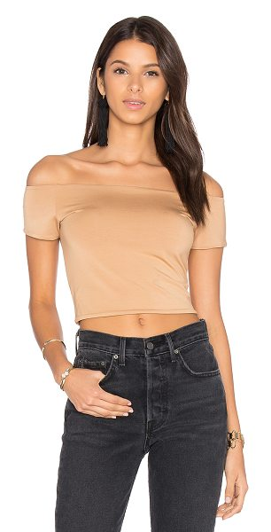 House of Harlow 1960 x REVOLVE Lola Crop in beige - Rayon blend. Hand wash cold. Jersey knit fabric....