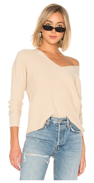 House of Harlow 1960 x REVOLVE Miles Pullover in tan - 53% nylon 47% viscose. Hand wash cold. Rib knit fabric....