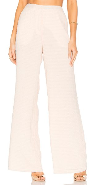 "House of Harlow 1960 x REVOLVE Mona Pants in pink - ""100% poly. Hand wash. Hook and bar front closure. Side..."