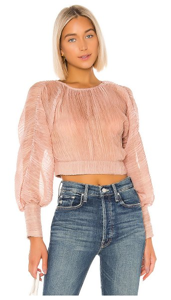 House of Harlow 1960 x revolve nalin blouse in rose
