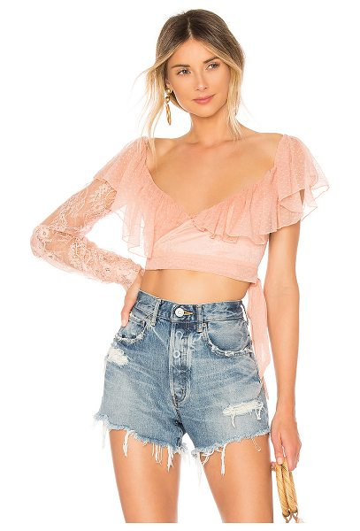 House of Harlow 1960 x REVOLVE Noel Top in rose - Self: 100% nylonLining: 95% poly 5% lycra. Hand wash...