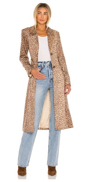 House of Harlow 1960 x revolve perry belted coat in brown leopard multi